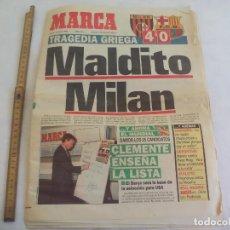 Coleccionismo deportivo: DIARIO, PERIODICO MARCA 19 MAYO 1994, MILAN 4 BARCELONA 0. GRAGEDIA GRIEGA, MALDITO MILAN. Lote 147078706