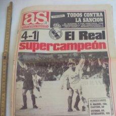 Coleccionismo deportivo: DIARIO, PERIODICO AS Nº 7321. 13 DICIEMBRE 1990. EL REAL MADRID SUPERCAMPEON. 4-1 BARCELONA. Lote 147079498