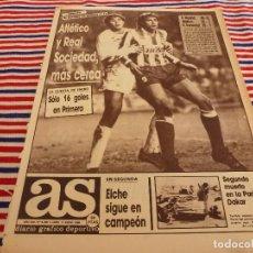 Coleccionismo deportivo: AS(11-1-88) AT.MADRID 2 VALENCIA 1,SEGUNDO MUERTO EN EL PARIS-DAKAR,CUESTIONADOS POR EDAD EN BARÇA. Lote 147124002