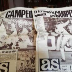 Coleccionismo deportivo: REAL MADRID CF . LOTE PERIÓDICOS HISTÓRICOS. AÑOS 80.. Lote 147550989