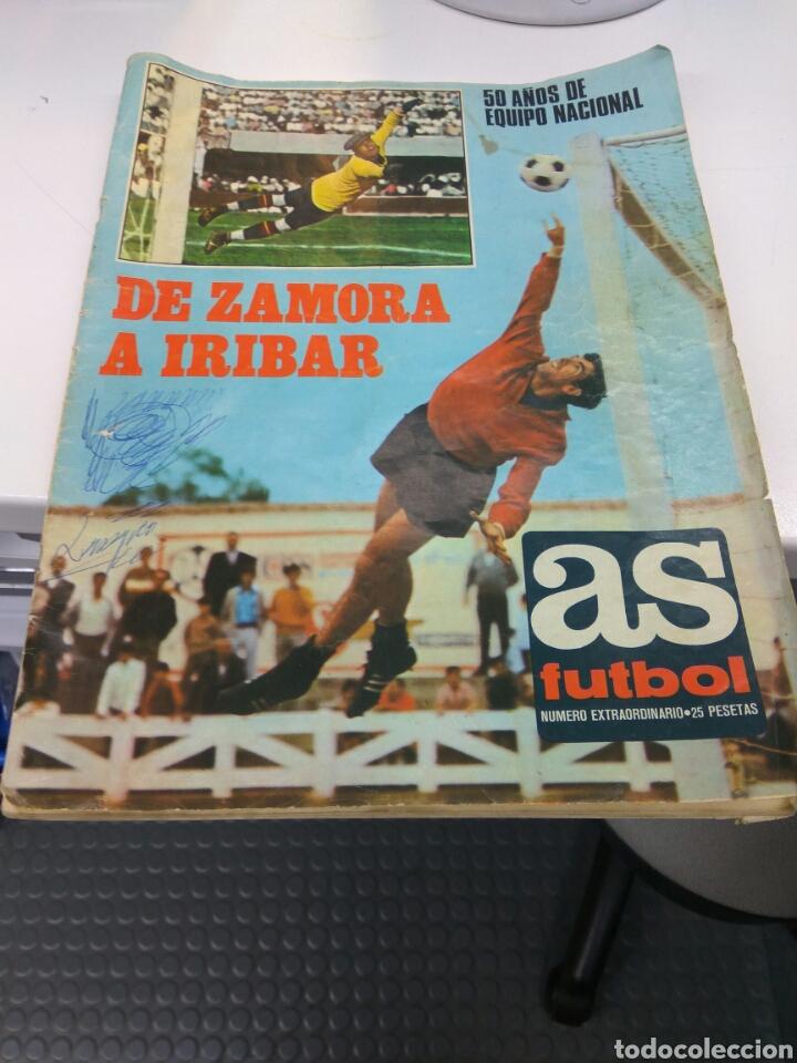 DIARIO AS DE ZAMORA A IRIBAR 1920-1970 CON POSTER SELECCIÓN ESPAÑOLA CAMPEONA EUROPA (Coleccionismo Deportivo - Revistas y Periódicos - As)