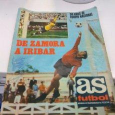 Coleccionismo deportivo: DIARIO AS DE ZAMORA A IRIBAR 1920-1970 CON POSTER SELECCIÓN ESPAÑOLA CAMPEONA EUROPA. Lote 147582366