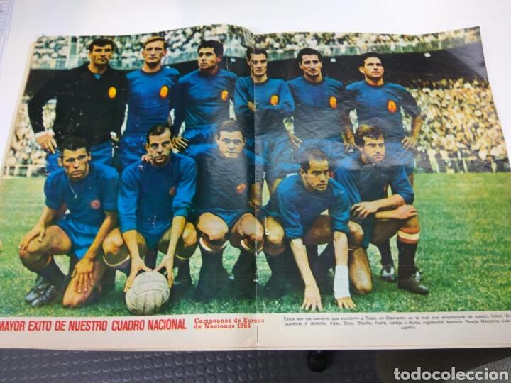 Coleccionismo deportivo: DIARIO AS DE ZAMORA A IRIBAR 1920-1970 CON POSTER SELECCIÓN ESPAÑOLA CAMPEONA EUROPA - Foto 2 - 147582366