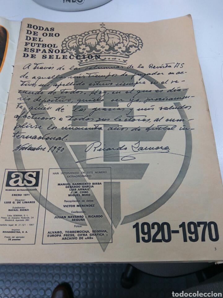 Coleccionismo deportivo: DIARIO AS DE ZAMORA A IRIBAR 1920-1970 CON POSTER SELECCIÓN ESPAÑOLA CAMPEONA EUROPA - Foto 3 - 147582366