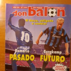 Coleccionismo deportivo: DON BALON 1005 POSTER Y FICHAS ATHLETIC BILBAO BERGKAMP INTER MILAN BLACK BURN ROVERS. Lote 147592770