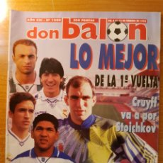 Coleccionismo deportivo: DON BALON 1008 POSTER Y FICHAS TENERIFE TONI ESPAÑOL OUEDEC NANTES RAUL ALFONSO REAL MADRID. Lote 147594878