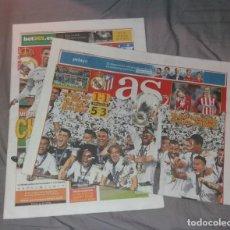Coleccionismo deportivo: PERIÓDICO AS. REAL MADRID CAMPEÓN DE EUROPA 2016, 11ª, LA UNDÉCIMA. PREVIA Y TÍTULO. NUEVOS. Lote 147619102