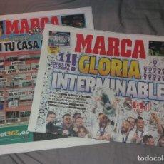 Coleccionismo deportivo: PERIÓDICO MARCA. REAL MADRID CAMPEÓN DE EUROPA 2016, 11ª, LA UNDÉCIMA. PREVIA Y TÍTULO. NUEVOS. Lote 147619450
