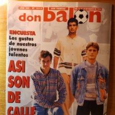 Coleccionismo deportivo: DON BALON 1013 POSTER Y FICHAS ZARAGOZA PALAMOS MIJATOVIC VAKENCIA AMOROSO GUARANI WEAH PARIS SAINT. Lote 147628794