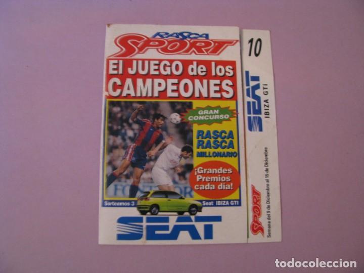 RASCA SPORT. EL JUEGO DE LOS CAMPEONES. SORTEO DE UN SEAT IBIZA. AÑOS 90. (Coleccionismo Deportivo - Revistas y Periódicos - Sport)