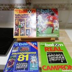 Coleccionismo deportivo: DON BALON. EXCELENTE LOTE REVISTAS Y EXTRAS. RECOPILACIÓN CRONOLÓGICA . JOYA HISTÓRICA.. Lote 147940088