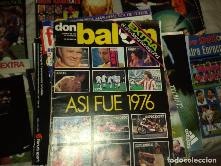Coleccionismo deportivo: Don balon. Excelente lote revistas y extras. Recopilación cronológica . JOYA HISTÓRICA. - Foto 20 - 147940088