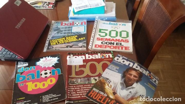 Coleccionismo deportivo: Don balon. Excelente lote revistas y extras. Recopilación cronológica . JOYA HISTÓRICA. - Foto 25 - 147940088