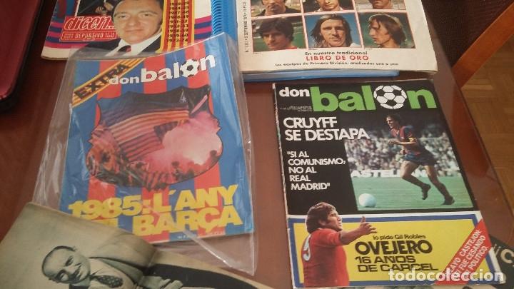 Coleccionismo deportivo: Don balon. Excelente lote revistas y extras. Recopilación cronológica . JOYA HISTÓRICA. - Foto 28 - 147940088