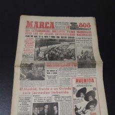 Coleccionismo deportivo: MARCA 8/03/1959. OVIEDO R.MADRID JUEGOS UNIVERSITARIOS NACIONALES. CONDAL,2 - INDAUCHU,0. BOXEO LUIS. Lote 148027386
