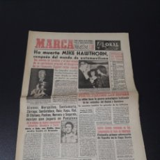 Coleccionismo deportivo: MARCA 23/01/1959. MIKE HAWTHORN AUTOMOVILISMO FUTBOL JEREZ TOTO CICLISMO ANTONIO SUAREZ.. Lote 148032484