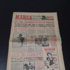 Coleccionismo deportivo: MARCA 1/02/1959. ESPECIAL R.MADRID BETIS CONDAL,3 - BARACALDO,1. BALONMANO FINAL GRANOLLERS V. SABAD. Lote 148033940