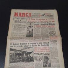 Coleccionismo deportivo: MARCA 19/02/1959. COPA EUROPA REIMS,3 - STANDARD LIEJA,0. COPA EUROPA BALONCESTO TENIS OLMEDO.. Lote 148040424