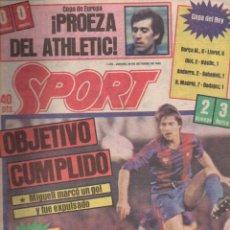 Coleccionismo deportivo: SPORT Nº 1410 - 20 OCTUBRE 1983 - MENOTTI. Lote 148161162