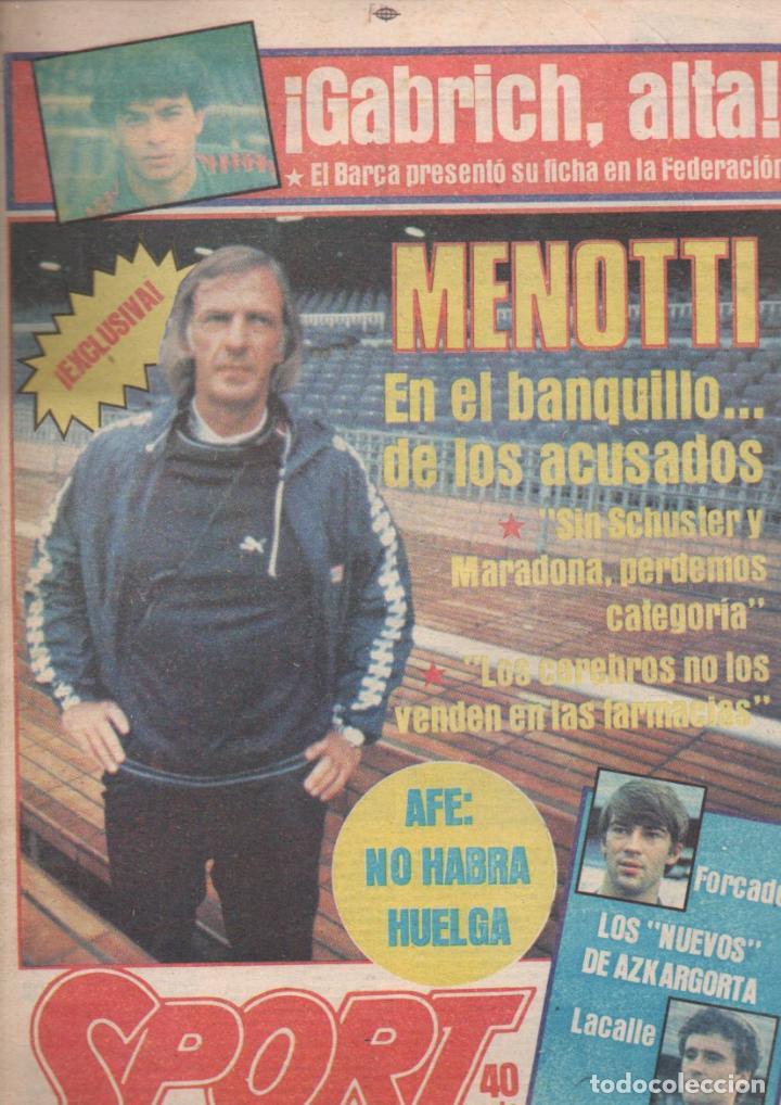 SPORT Nº 1416 - 25 OCTUBRE 1983 - MENOTTI (Coleccionismo Deportivo - Revistas y Periódicos - Sport)