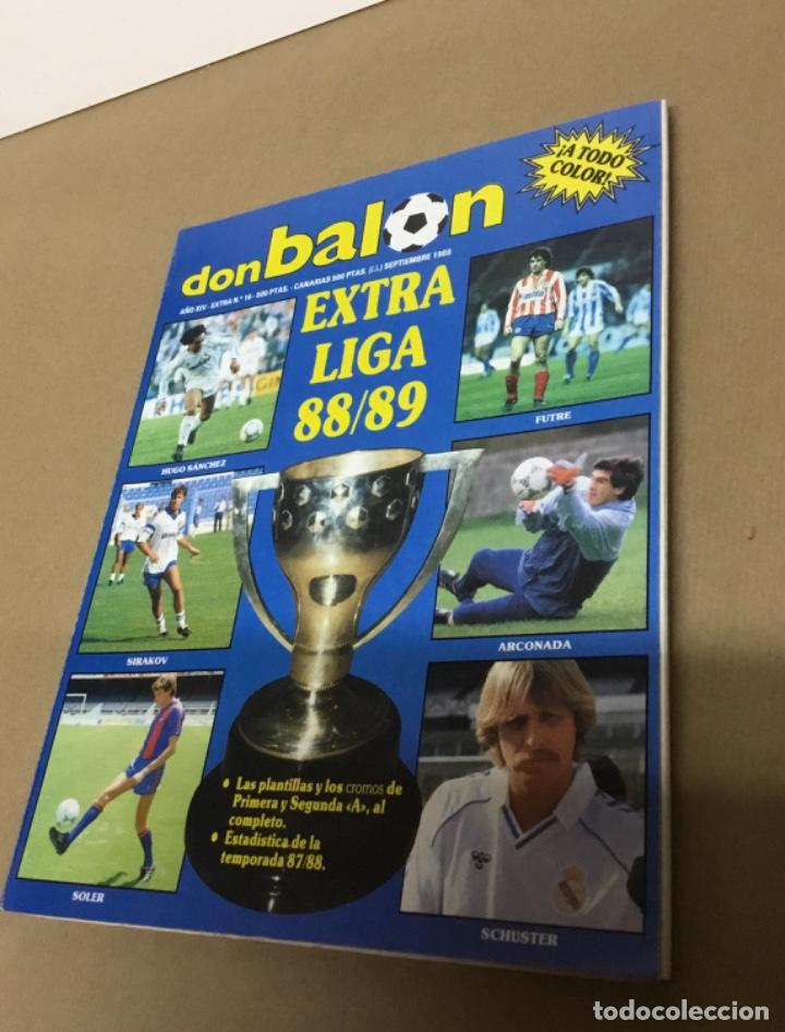 Coleccionismo deportivo: Don balón extra liga 88 89 excelente estado - Foto 2 - 148346926