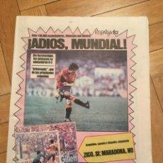 Colecionismo desportivo: SPORT (3-7-1982) MUNDIAL ESPAÑA 82 ESPAÑA 1-2 ALEMANIA BRASIL 3-1 ARGENTINA POLONIA URSS . Lote 148671162