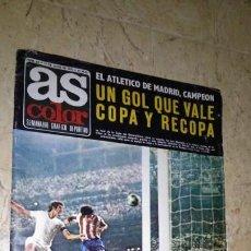Coleccionismo deportivo: REVISTA AS COLOR, FÚTBOL ATLÉTICO DE MADRID Y VALENCIA COPA DEL REY, ÁNGEL NIETO MOTO Y BOXEO. 1972. Lote 148678854
