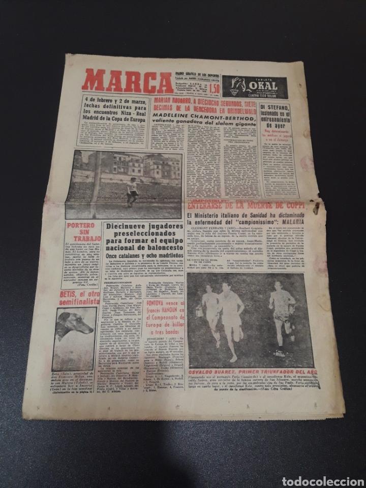 MARCA 8/01/1960. MANUEL BERMUDEZ POLO CORUÑA BOSCH MANCHESTER SETTERS CAMPEONATOS ESPAÑA SEL. JUVENI (Coleccionismo Deportivo - Revistas y Periódicos - Marca)
