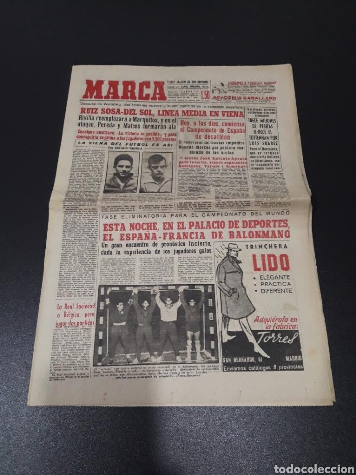 MARCA 29/10/1960. AUSTRIA V. ESPAÑA ESPECIAL OSASUNA LUIS SUAREZ TOTTENHAM. (Coleccionismo Deportivo - Revistas y Periódicos - Marca)