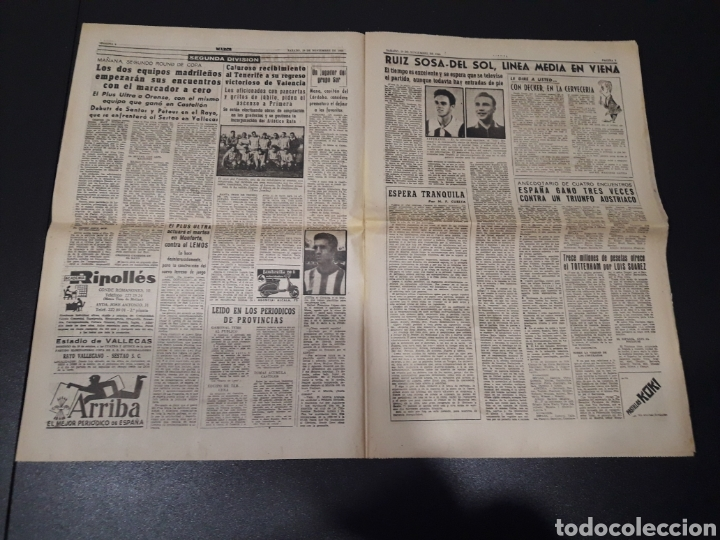 Coleccionismo deportivo: MARCA 29/10/1960. AUSTRIA V. ESPAÑA ESPECIAL OSASUNA LUIS SUAREZ TOTTENHAM. - Foto 2 - 148789496