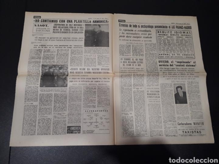 Coleccionismo deportivo: MARCA 10/01/1965. FC.BARCELONA AT.MADRID SASOT LAS PALMAS R.MADRID ECIJA ESPECIAL LEON LASA BETIS. - Foto 3 - 148790766