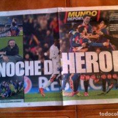 Coleccionismo deportivo: POSTER NOCHE DE HEROES BARÇA 6 ,PSG 1. Lote 148808386