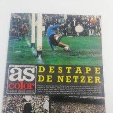 Coleccionismo deportivo: REVISTA AS COLOR NÚMERO 199, 11 MARZO 1975, POSTER DEPORTIVO ALAVES ALARCIA FC BARCELONA ATVIDABERG. Lote 149212121