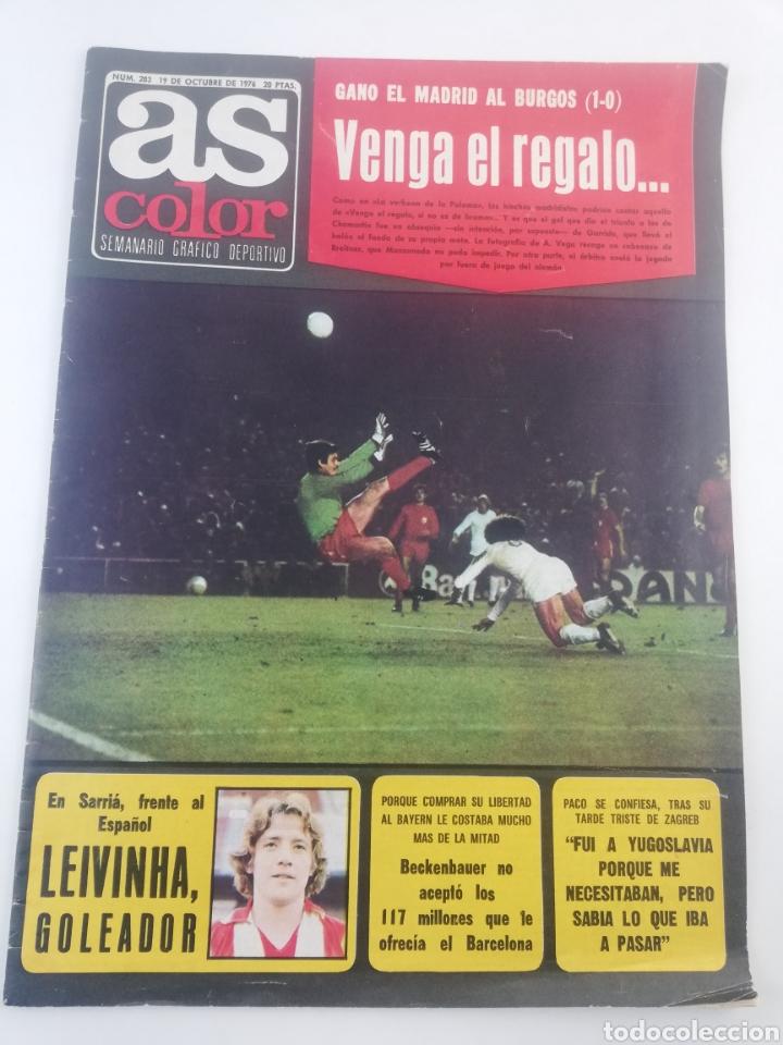 DIARIO AS COLOR NUMERO 283, 19 OCTUBRE 1976, POSTER HISTORIA REAL MADRID BALONCESTO, ARKONADA. (Sammelleidenschaft Sport - Zeitschriften und Zeitungen - As)