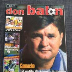 Coleccionismo deportivo: DON BALÓN FÚTBOL 1356 - CAMACHO ESPAÑA - VICENTE VALENCIA - ADRIANO ÍNTER - FIORENTINA. Lote 149329004