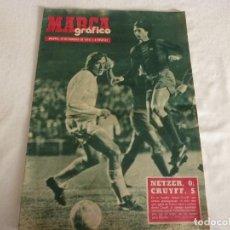 Coleccionismo deportivo: MARCA GRÁFICO(19-2-74)!!APOTEOSIS EN BERNABEU!! R.MADRID 0 BARÇA 5 !!!CRUYFF Y F.C.BARCELONA ESTELAR. Lote 149558918