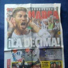 Collectionnisme sportif: PORTADA PERIÓDICO MARCA LA DÉCIMA REAL MADRID CAMPEÓN CHAMPIONS 25 MAYO 2014. Lote 149689373
