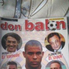 Coleccionismo deportivo: DON BALON NÚMERO 1408 RONALDO, REDONDO, FIGO, BARCELONA. Lote 149711734