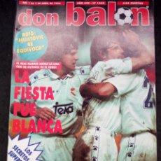Coleccionismo deportivo: REVISTA DON BALON. AÑO 1996. NUM. 1068. Lote 149740534