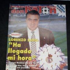Colecionismo desportivo: REVISTA DON BALON. AÑO 1995. NUM. 1046. CON POSTER DEL REAL MADRID. Lote 149742602