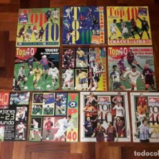 Coleccionismo deportivo: LOTE REVISTAS FUTBOL DON BALON TOP 40. Lote 149767926