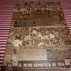 Coleccionismo deportivo: VIDA DEPORTIVA Nº:483(20-12-54) !!!HÉRCULES 1 BARÇA 0 !!!ESPECTACULARES PARADAS DE PAZOS !!!. Lote 153231222