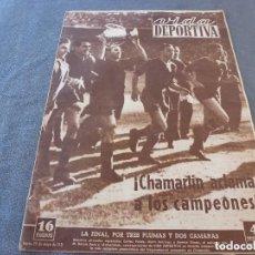 Coleccionismo deportivo: VIDA DEPORTIVA Nº:298(29-5-51)!!! BARÇA 3 R.SOCIEDAD 0 !!! CAMPEONES COPA GENERALISIMO !!!. Lote 149990174