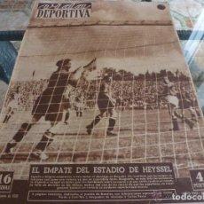 Collectionnisme sportif: VIDA DEPORTIVA Nº:300(12-6-51) EN HEYSSEL, BÉLGICA 3 ESPAÑA 3-FOTOS. Lote 149990926