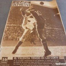 Colecionismo desportivo: VIDA DEPORTIVA Nº:316(2-10-51)!!! BARÇA 1 VALENCIA 3 !!! LUIS ROMERO(BOXEO)CÓDIGO TRÁFICO EN ESPAÑA. Lote 150003094