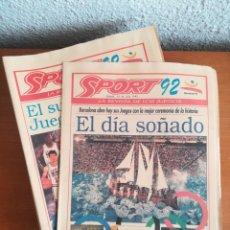 Coleccionismo deportivo: DIARIO SPORT JUEGOS BARCELONA 92 OLIMPIADAS - JOCS - JORDAN BUBKA PEÑALVER MÀGIC CACHO. Lote 150225952