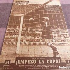 Colecionismo desportivo: VIDA DEPORTIVA Nº:500(18-4-55)MURCIA Y CULTURAL LEONESA A 1ª !!! PIRELLI,BARÇA 6 RACING PARIS 2. Lote 153355069