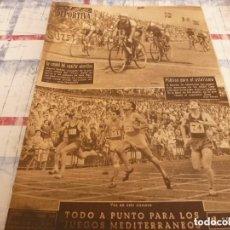 Coleccionismo deportivo: VIDA DEPORTIVA Nº:512(11-7-55)MILAN CAMPEON ITALIA,PROX.JUEGOS MEDITERRANEOS,POBLET,BEISBOL.. Lote 150301110