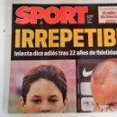 Coleccionismo deportivo: SPORT: RETIRADA DE ANDRES INIESTA. Lote 150322250