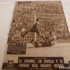 Coleccionismo deportivo: VIDA DEPORTIVA Nº:522(19-9-55)BARÇA 2 AT.MADRID 2 PAZOS,R.MADRID 2 BILBAO 1,CÉSAR EN LEÓN.. Lote 150397274